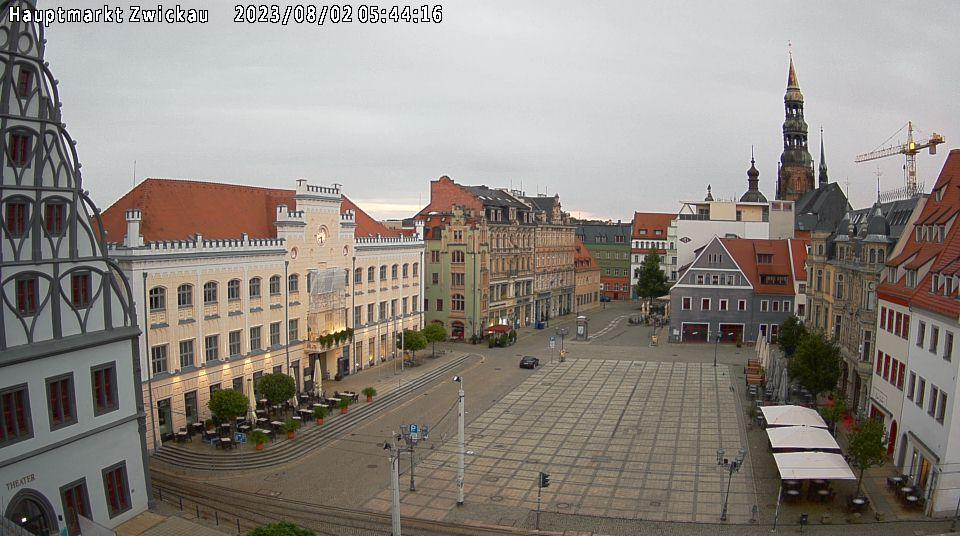 Webcambild vom Hauptmarkt in Zwickau