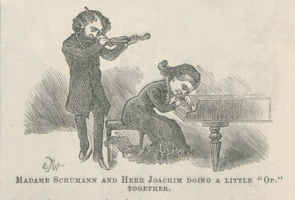 """Madame Schumann and Herr Joachim"" aus der Zeitschrift Punch or The London Charivari 1881"